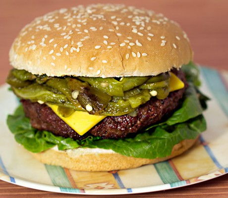 Green Chile Cheese Burger