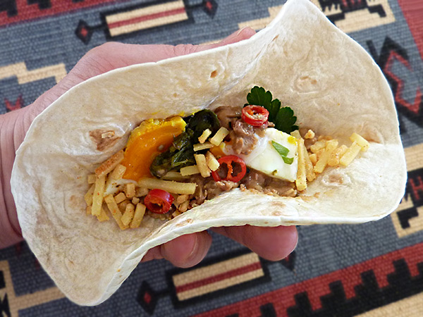 Leckerer New Mexican Breakfast Wrap