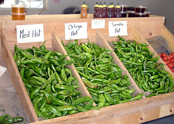 """Green Chiles""  al mecato a Las Cruces, New Mexico)"