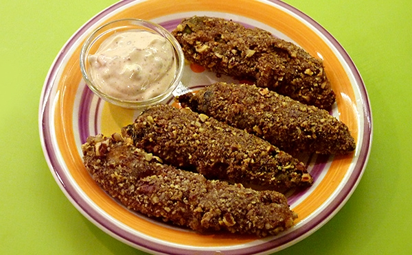 Pecan Crusted Chiles Rellenos